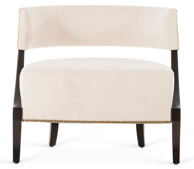 Evelyn Lounge Chair, Ivory