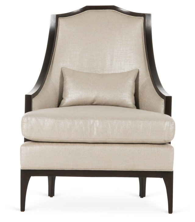 Jane Lounge Chair, Bone/Black