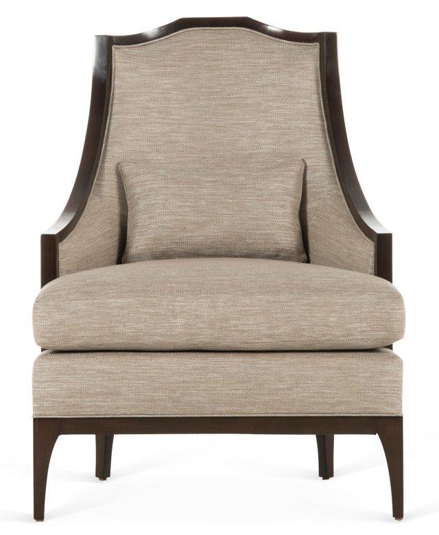 Jane Lounge Chair, Flax
