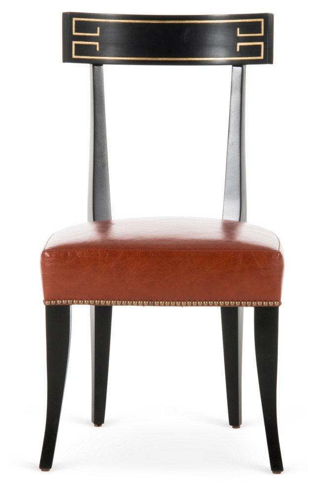 Zelia Side Chair, Chestnut
