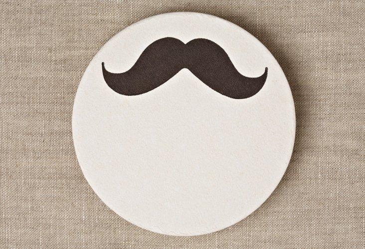 S/20 Mustache Coasters
