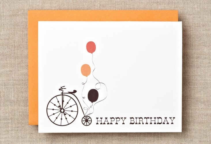 S/12 Bicycle Happy Birthday Boxed Cards