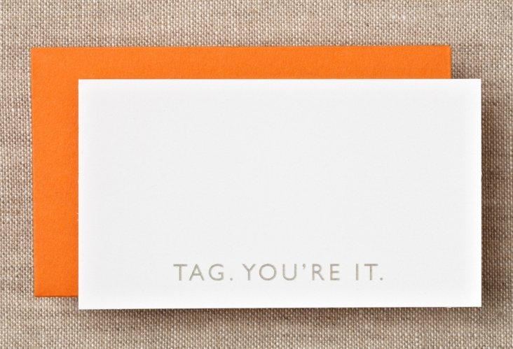 "S/16 ""Tag"" Boxed Enclosure Cards"