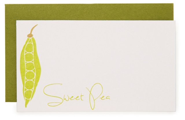 "S/16 ""Sweet Pea"" Enclosure Cards"
