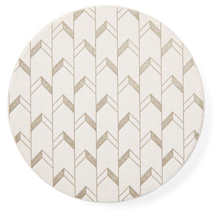S/20 Chevron Paper Coasters