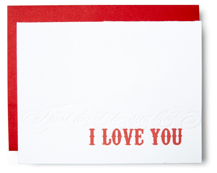 "S/12 ""I Love You"" Greeting Cards"