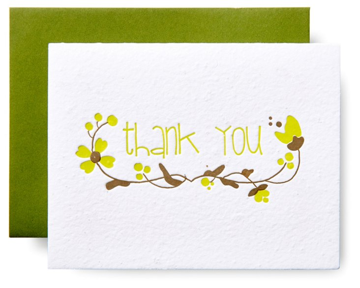 S/6 Thank You Wildflower Seeded Cards