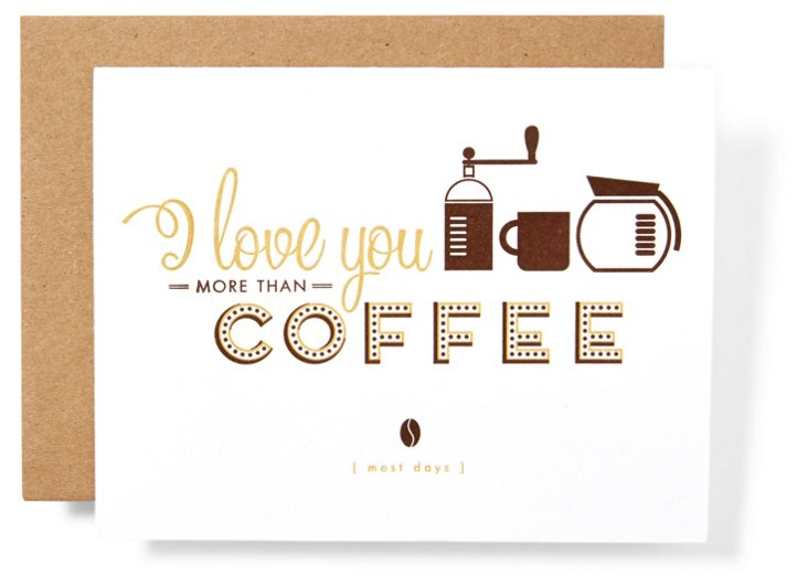 S/12 Note Cards, More than Coffee