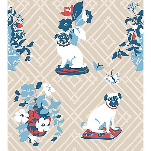 Manor Born Madcap Cottage Wallpaper, Pressed Linen