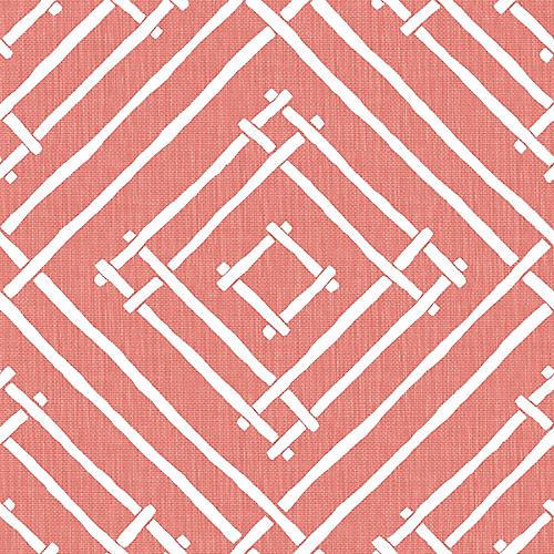 Chez Bamboo Madcap Cottage Wallpaper, Rhubarb