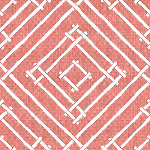 Chez Bamboo Madcap Cottage Wallpaper, Rhubarb