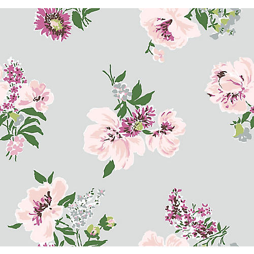 Isleboro Eve Madcap Cottage Wallpaper, Paris Gray