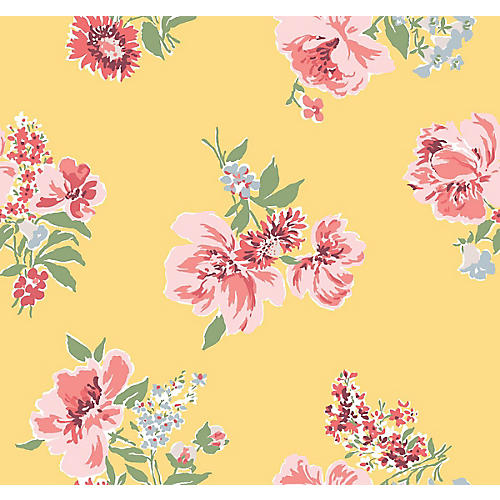 Isleboro Eve Madcap Cottage Wallpaper, Daffodil