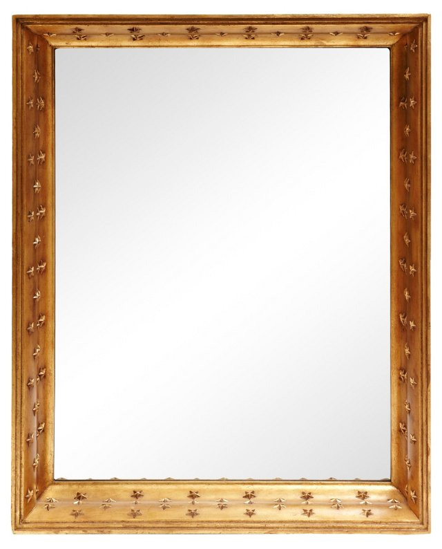 Gilded Mirror w/ Carved Stars