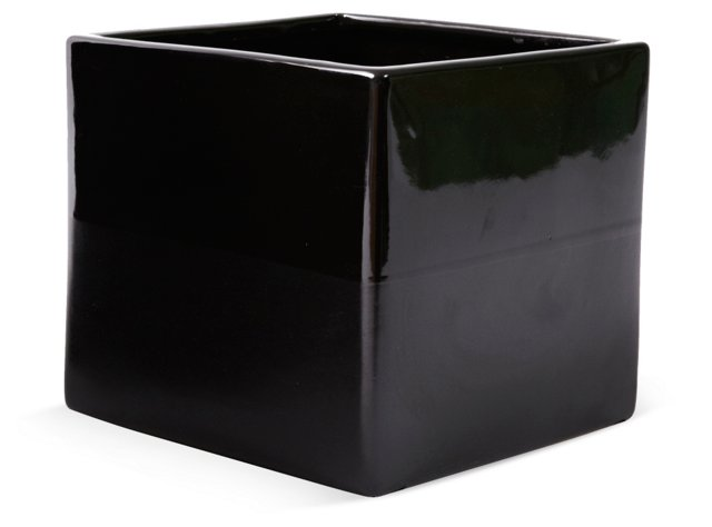 Mod Black Ceramic Vessel