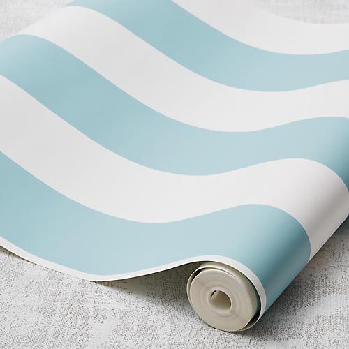 Stripe Wallpaper, Teal