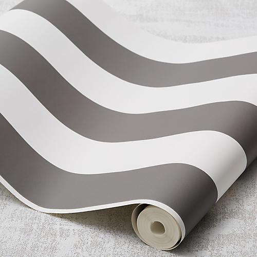 Stripe Wallpaper, Gray