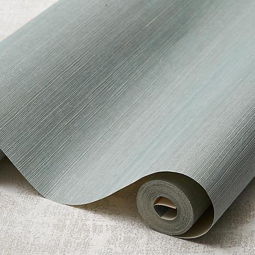 Grass Cloth Wallpaper, Light Blue