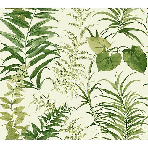 Palms Wallpaper, Green