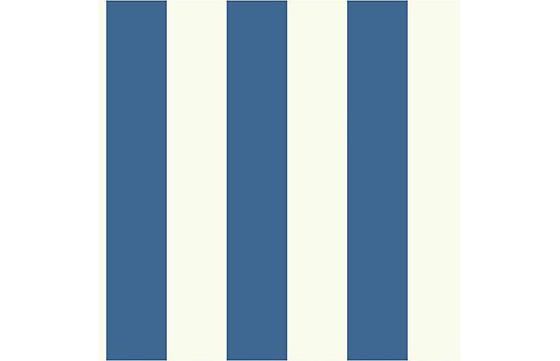 Stripe Wallpaper, Dark Blue