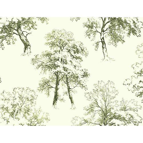 Deciduous Wallpaper, Green