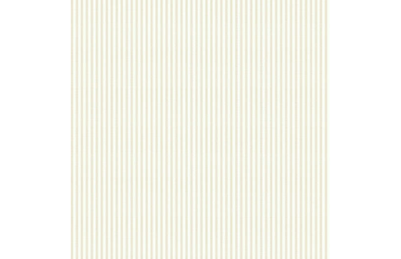 Taffeta Ticking Wallpaper, Beige