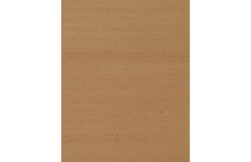 Grass-Cloth Wallpaper, Brown