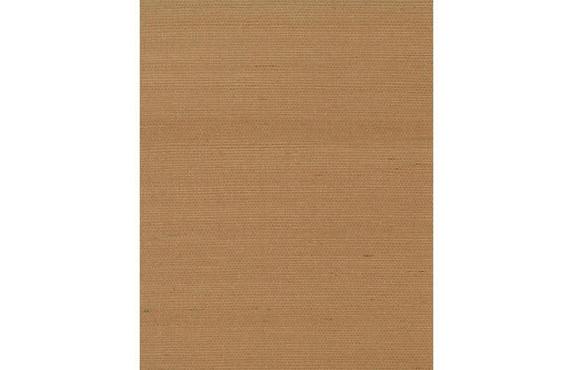Grass-Cloth Wallpaper, Brown
