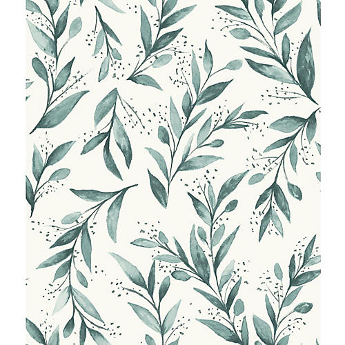 Olive Branch Wallpaper, Green