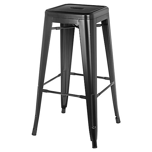 Bistro Outdoor Counter Stool, Black