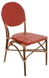 Marvelous Café Outdoor Bistro Side Chair, Red/Cream   Alfresco Dining   Outdoor  Essentials   Outdoor | One Kings Lane