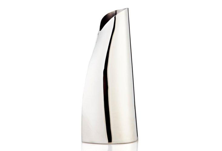 "9"" Stainless Wrap Vase"