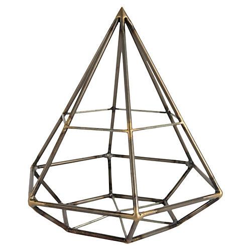 """10"""" Diamond Geodesic Figurine"""