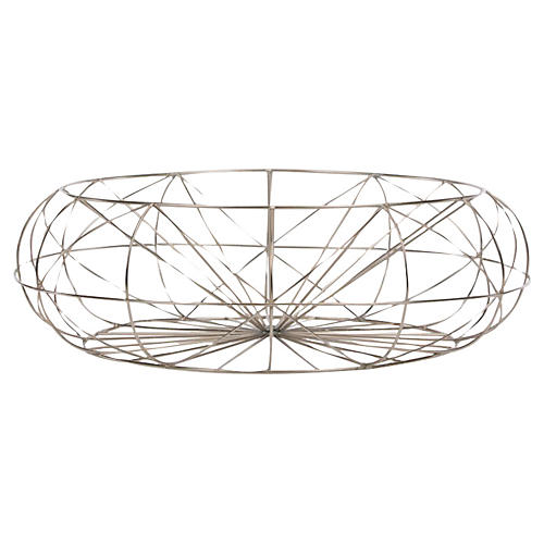 "22"" Arial Basket, Silver"