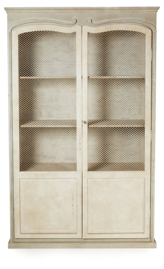 Alexander Display Cabinet, White/Gray