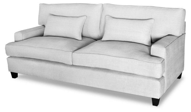 "Fifth Avenue 84"" Linen Sofa, Fog"