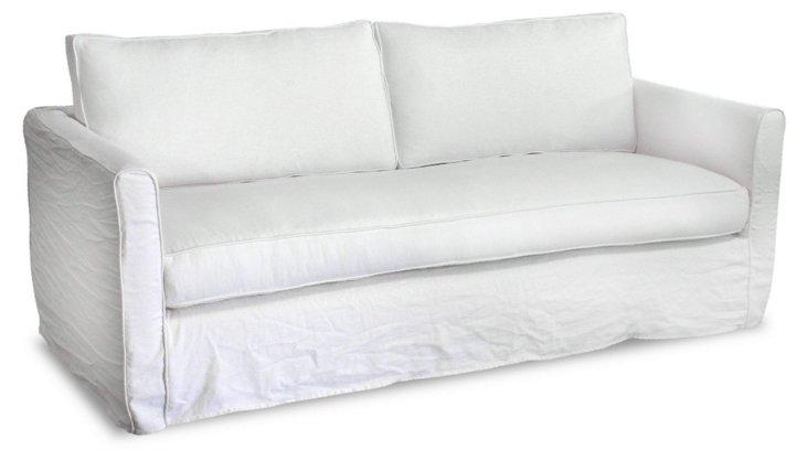 "Tacoma 80"" Linen Sofa, Oyster"