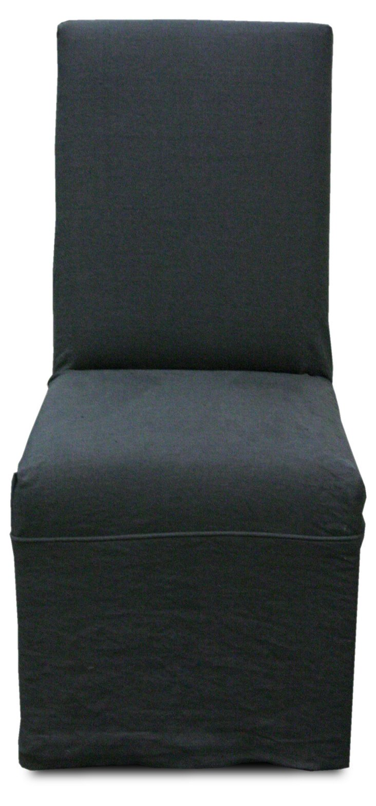 Sutton Linen Side Chair, Charcoal