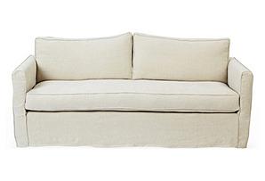 Tacoma Linen Sofa, Natural