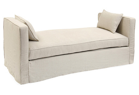 Reed Linen Daybed, Oatmeal