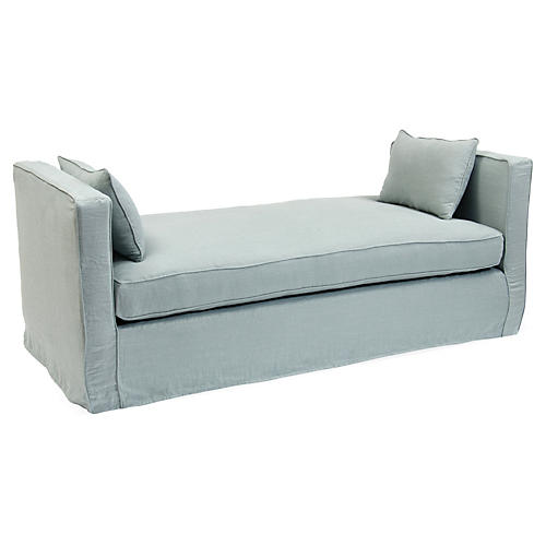 Reed Linen Daybed, Blue Belle