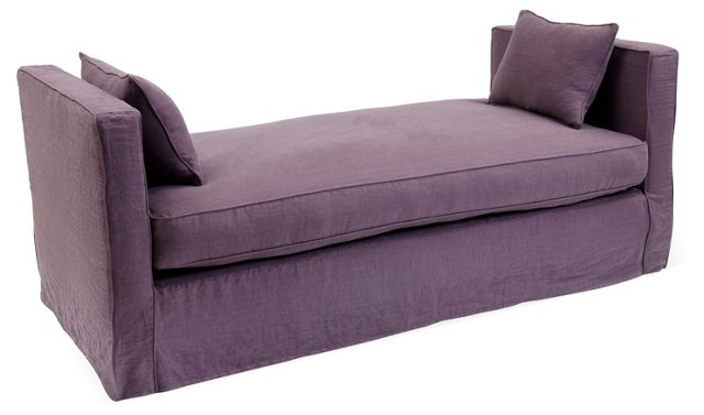 Reed Linen Daybed, Prune