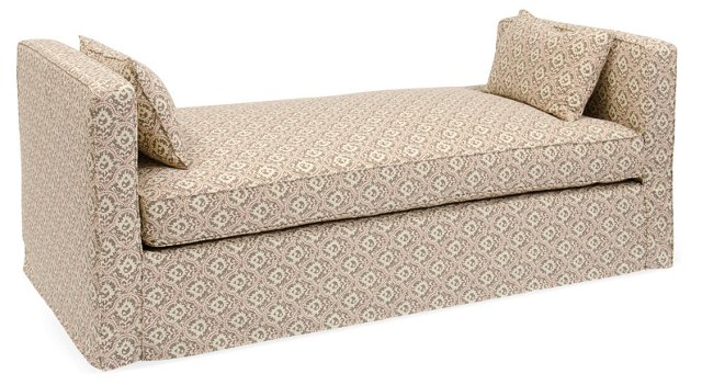 Reed Linen Daybed, Gray/Red