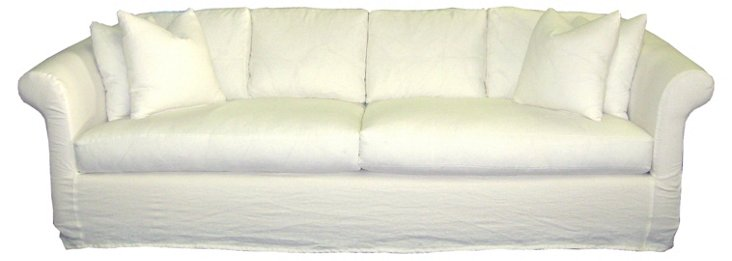 "Erika 108"" Linen Sofa, Oyster"