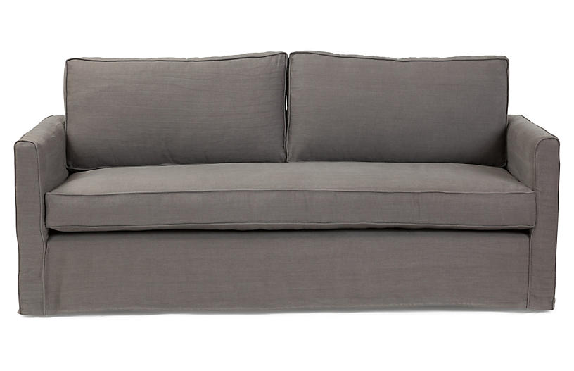 Tacoma 80 linen sofa charcoal sofas settees living for Furniture upholstery tacoma