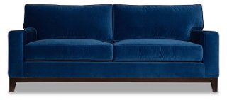 Manhattan Velvet Sofa, Blue   Sofas   Sofas U0026 Settees   Living Room    Furniture | One Kings Lane