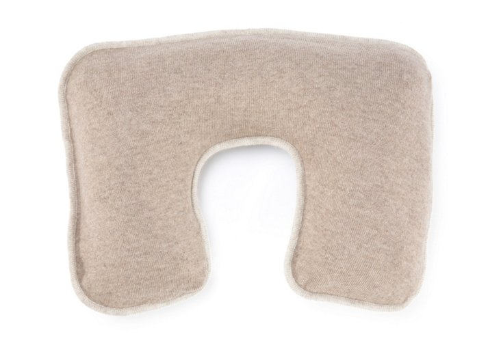 Cashmere Neck Pillow, Natural/Cream