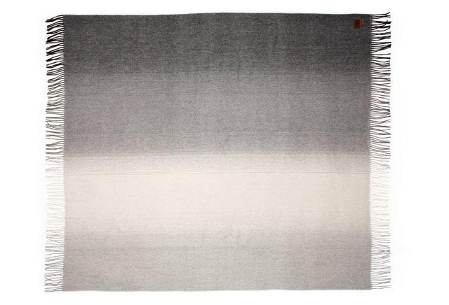 Striped Throw, Gray/Multi