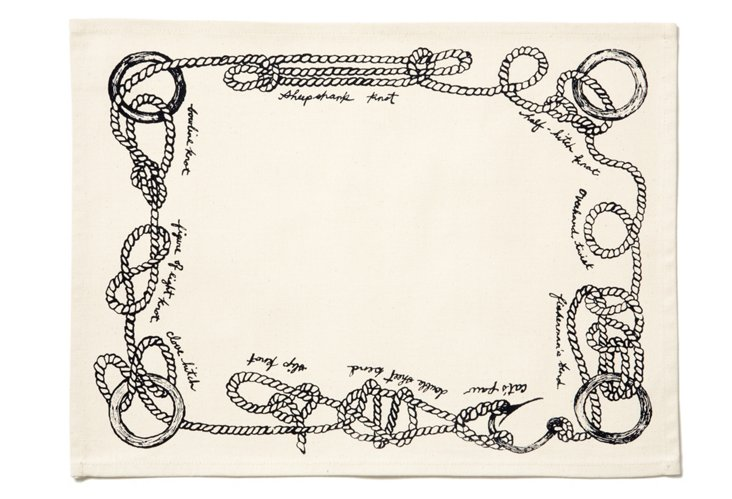 Sailor Knots Place Mat, Navy