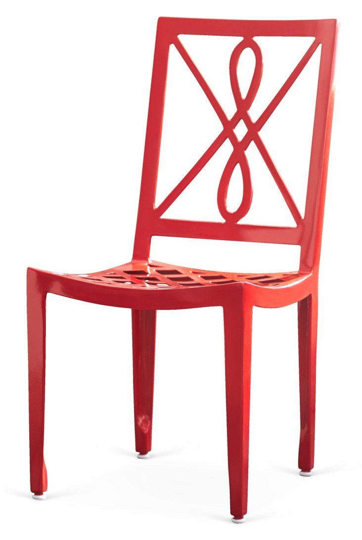 Verenne Side Chair, Red